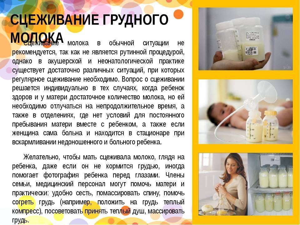 Сцеживание грудного молока руками: техника на видео