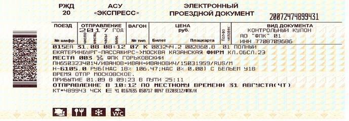 До какого возраста можно приобрести детский билет на поезд по россии 2020