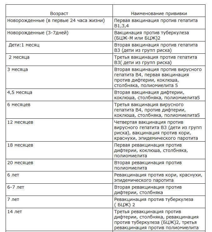 Прививки взрослым по возрасту: таблица, календарь вакцинации, нужно ли делать