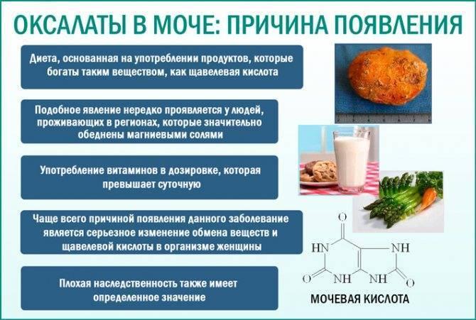 Диета и препараты при оксалатах в моче у ребенка