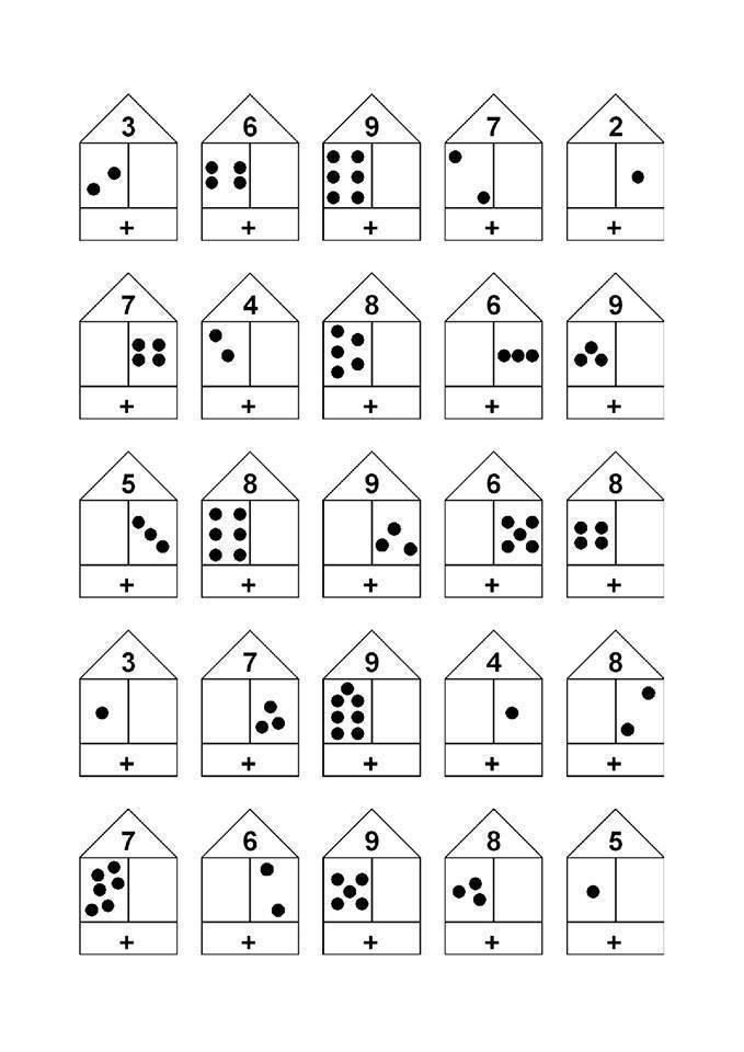 Как объяснить ребенку состав числа до 10 ? и 20 (учим по домикам)