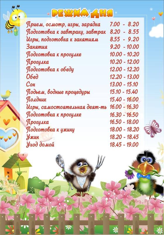 Режим в первой младшей группе март. режим дня ребенка в детском саду: расписание занятий, сна и питания в садике