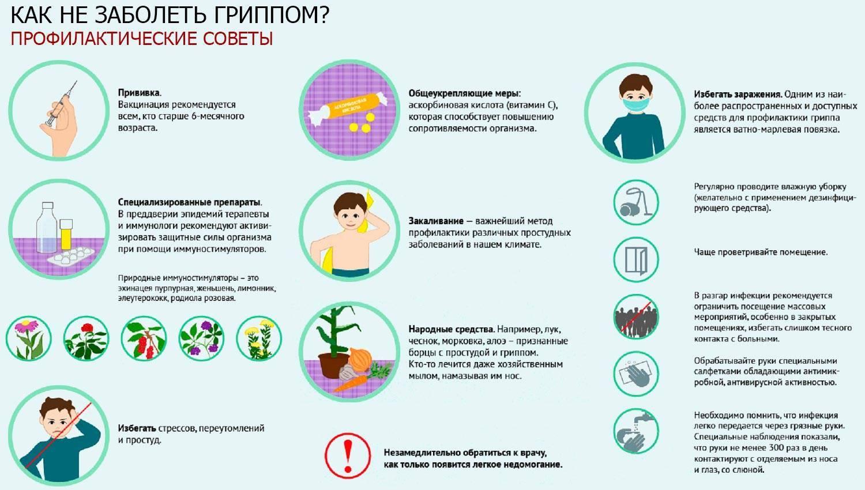Профилактика гриппа и простуды: препараты и народные средства