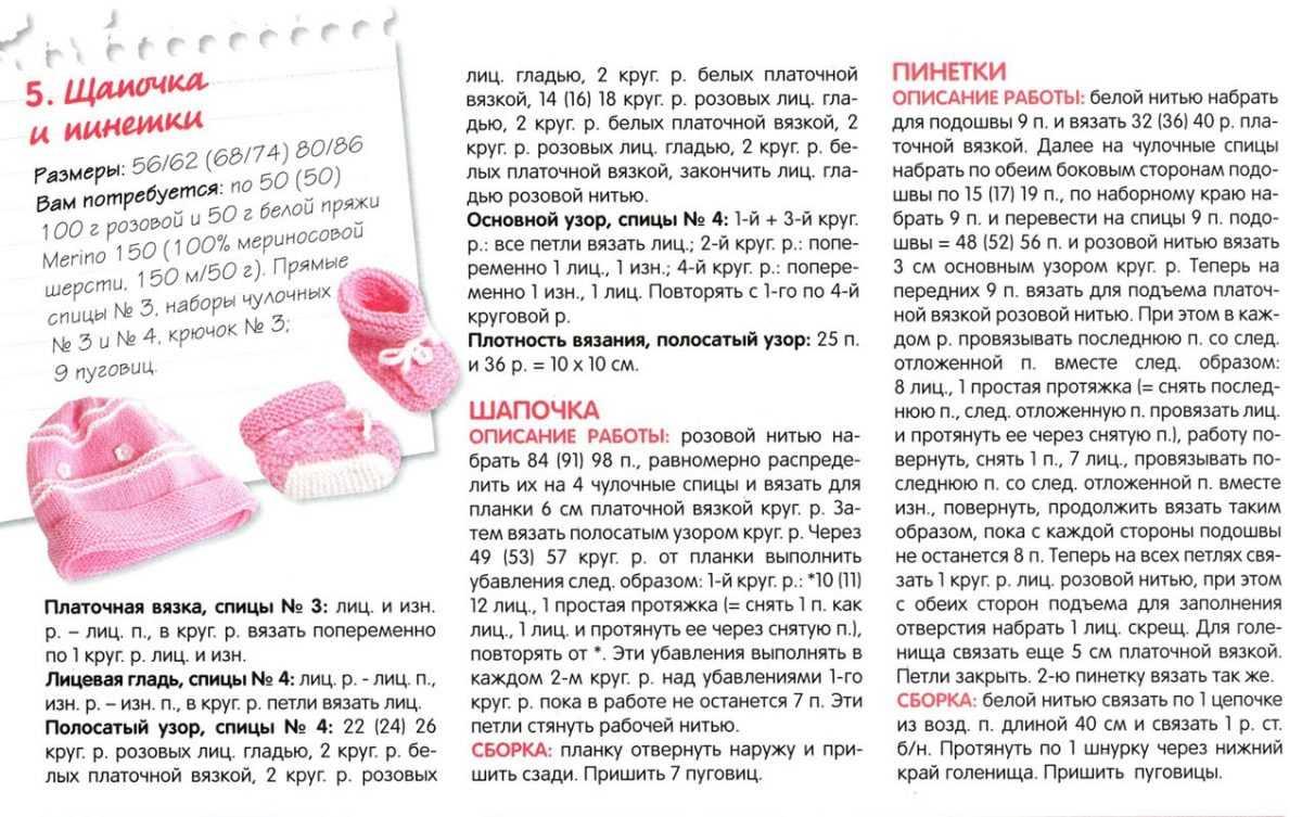 Как связать красивые пинетки спицами для новорожденных | im girl