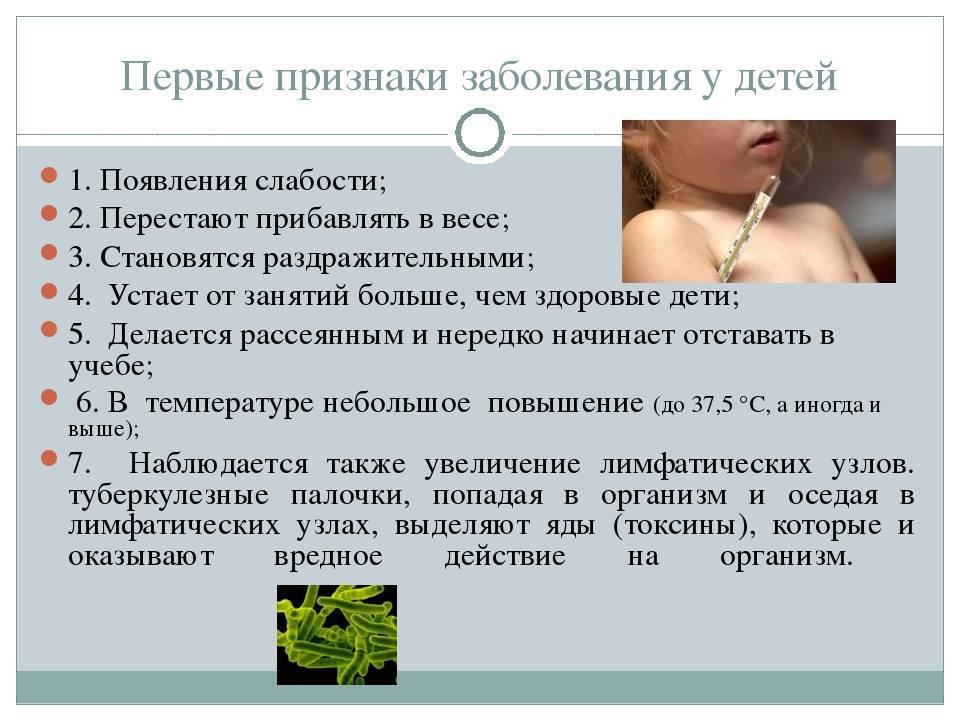 Туберкулез у детей. симптомы. признаки. профилактика. фото