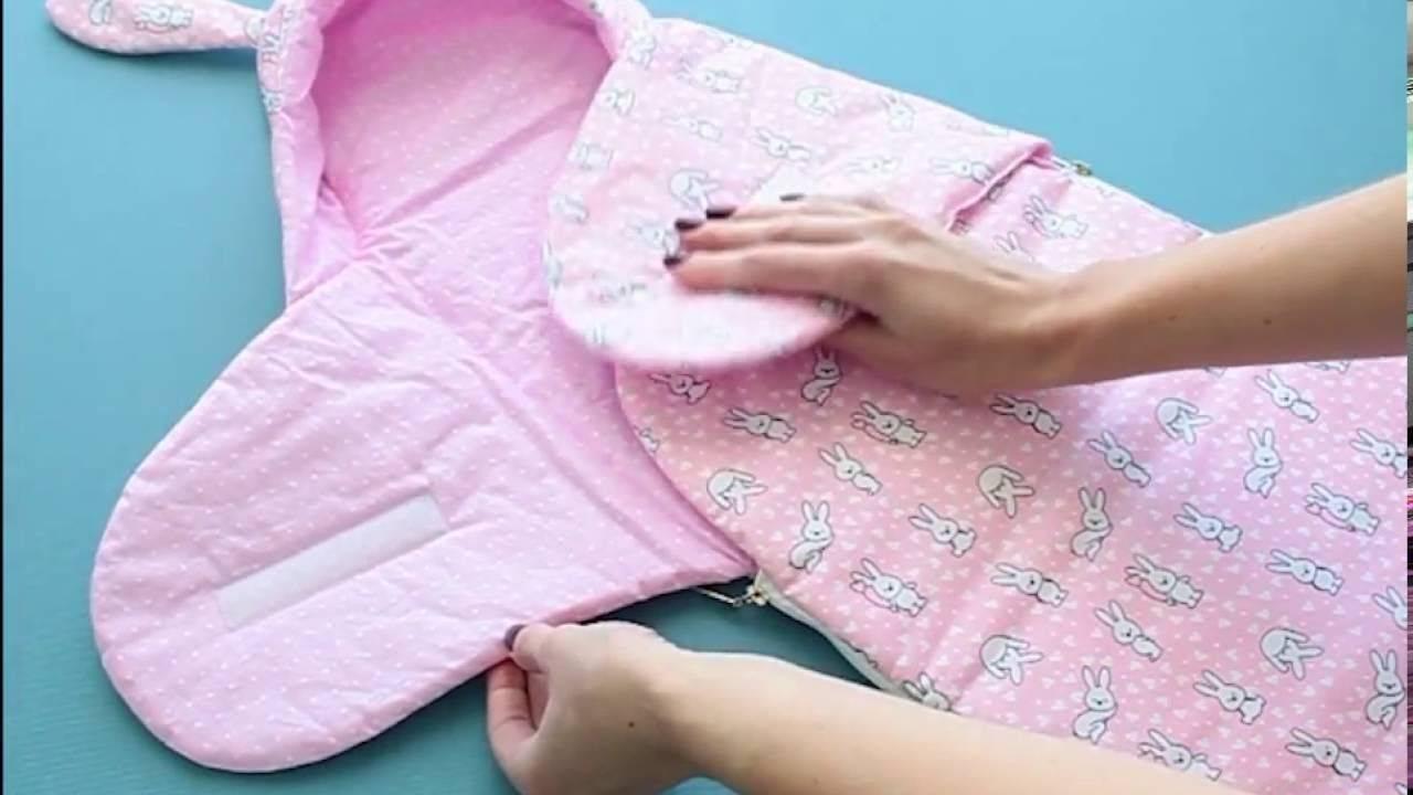 Нужна ли пеленка-кокон для новорожденных и как ее сшить или связать своими руками?