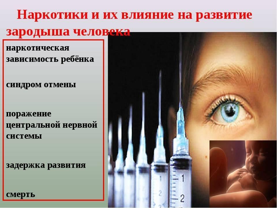«влияние никотина, алкоголя и наркотических веществ на развитие зародыша человека»
