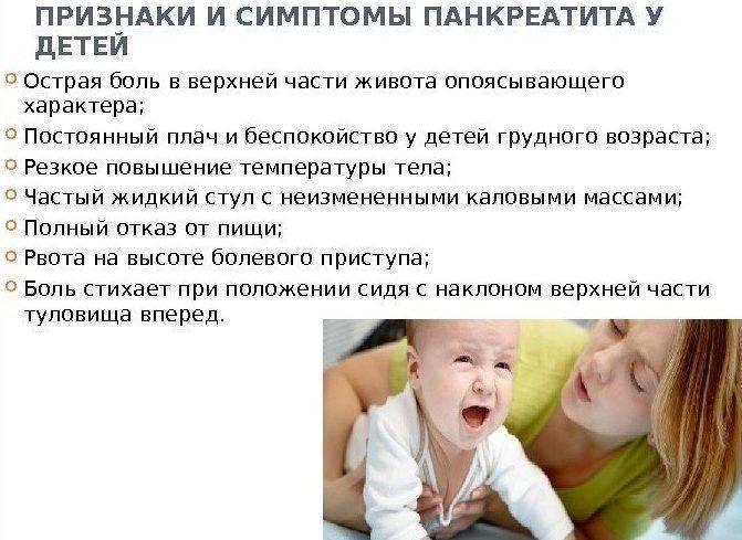 Реактивный панкреатит у детей: симптомы и лечение патологии ????????