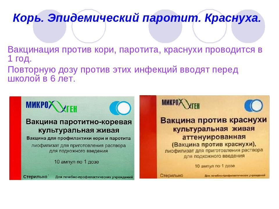 Прививка от кори краснухи паротита - реакция