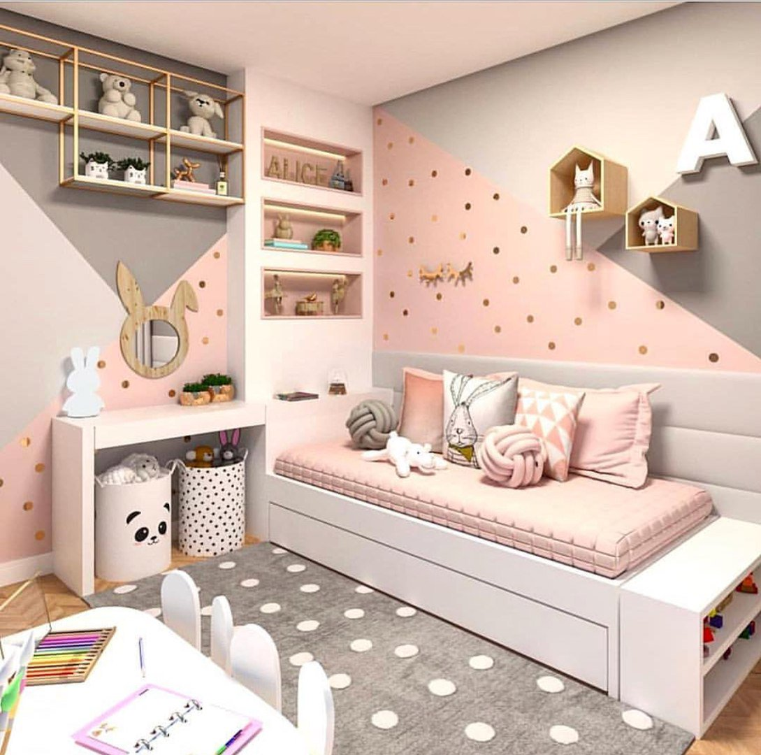 Особенности создания дизайна детской комнаты для двух девочек