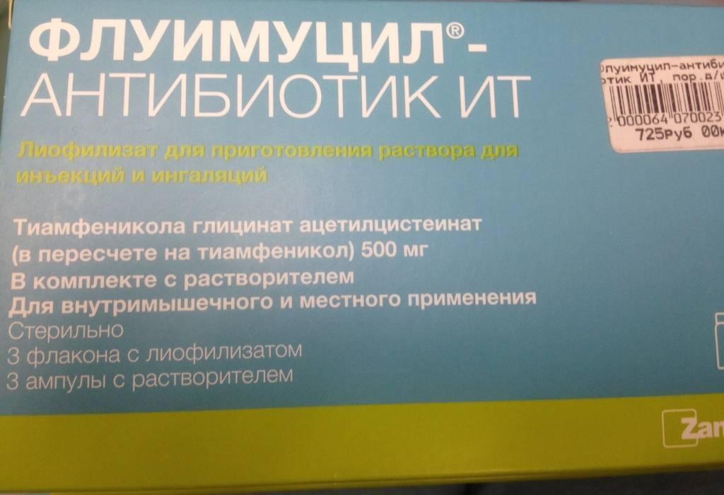 Инструкция по применению флуимуцил антибиотик ит для ингаляций + отзывы