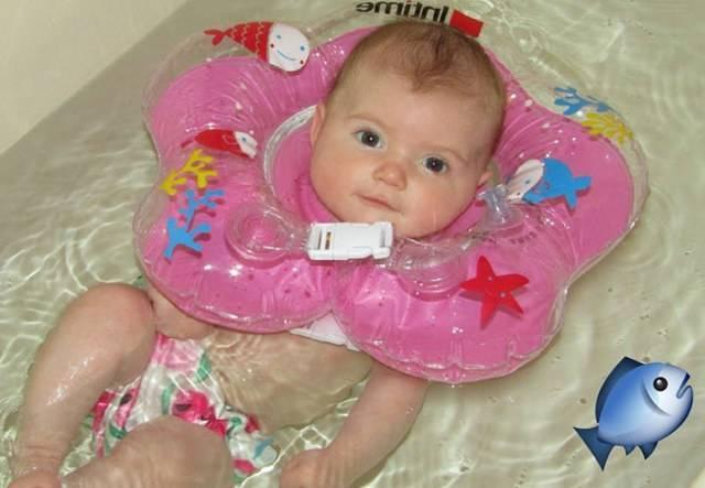 Как купать грудничка в большой ванне: можно ли без круга, как правильно с горкой