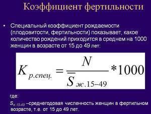 Фертильность - определение и формула расчета индекса, высокие и низкие показали