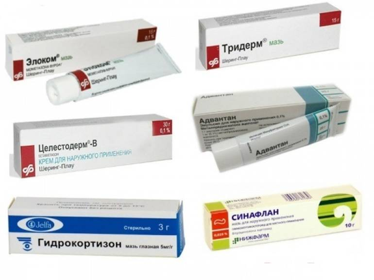 Негормональные и гормональные мази от дерматита: список лекарств и особенности применения