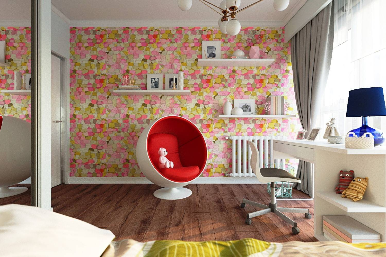 Обои для детской комнаты девочки-подростка: дизайнерские идеи с фото