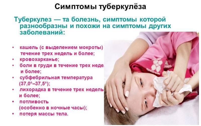 Признаки туберкулеза у детей: первые симптомы, на ранних стадиях, диагностика