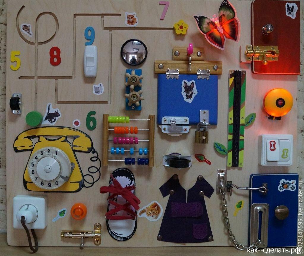 Бизиборды для детей — коробочка идей и мастер-классов