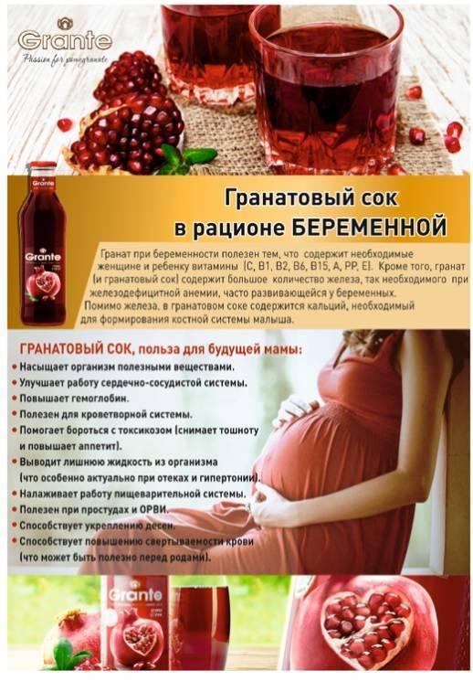 Гранатовый сок при грудном вскармливании: можно ли кормящей маме гранаты?
