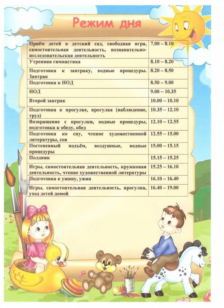 Режим дня летом 2 младшая группа. режим дня ребенка в детском саду: расписание занятий, сна и питания в садике. почему следует соблюдать режим