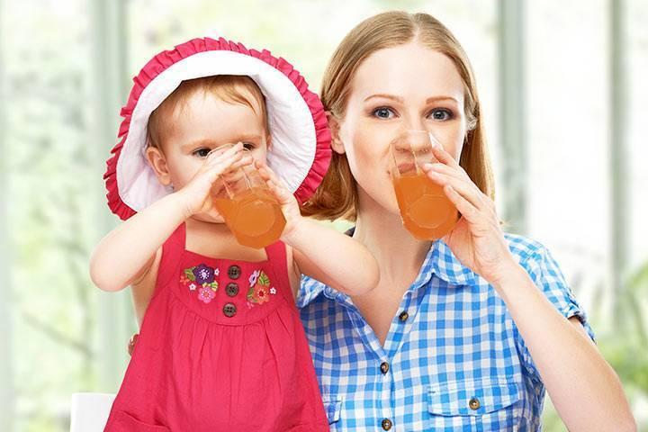 Какой сок можно пить при грудном вскармливании