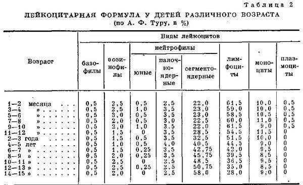 Норма лейкоцитов в крови у детей (таблица), причины повышенного и пониженного содержания