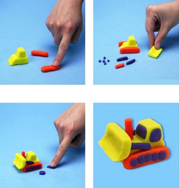 Лепка для детей 1-2 лет. самые простые поделки из пластилина (с шаблонами)