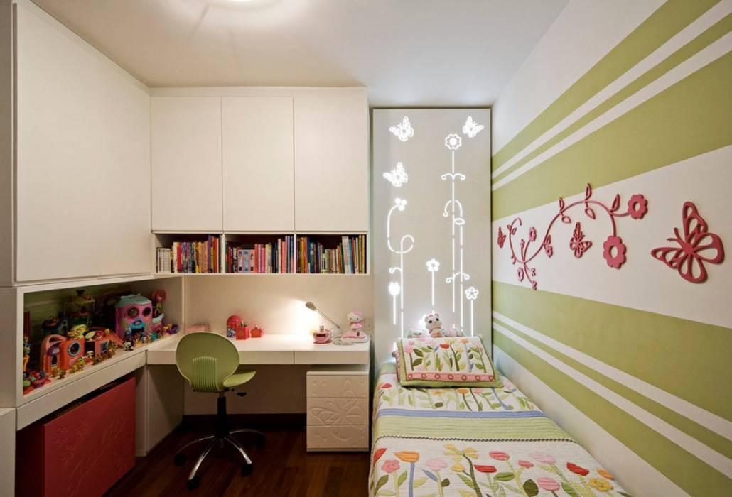 Дизайн узкой детской комнаты: 50 фото примеров интерьера