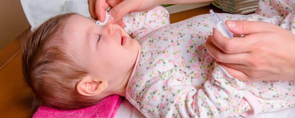 Мамина аптечка: чем лечить конъюнктивит у ребенка до года?