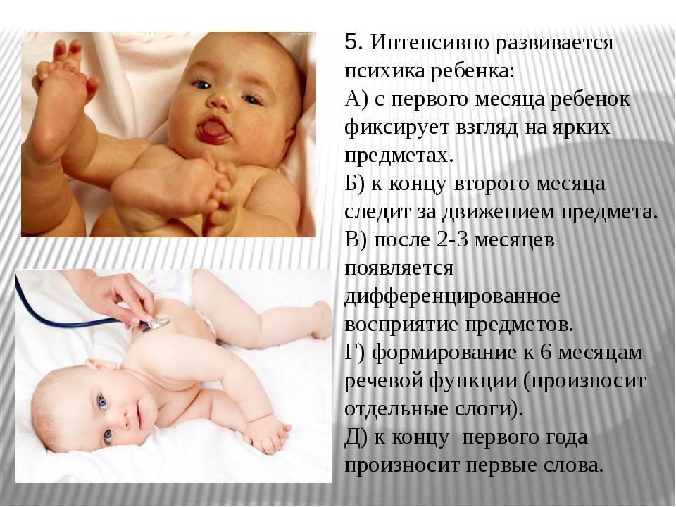 Уход за ребенком через 1,5 месяца после рождения