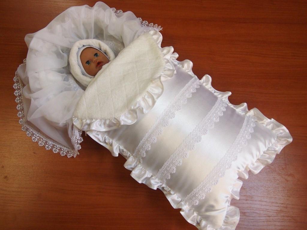 Конверт-одеяло для новорожденного своими руками для начинающих мам-рукодельниц