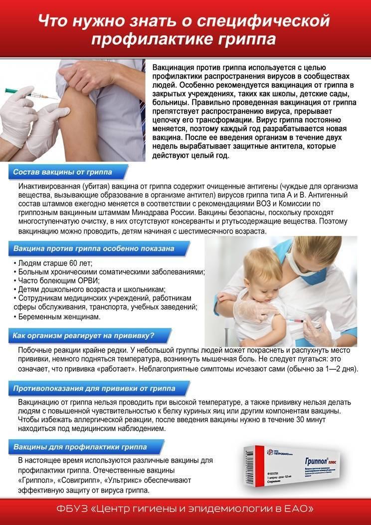 Прививка от гриппа: противопоказания, кому нельзя проводить