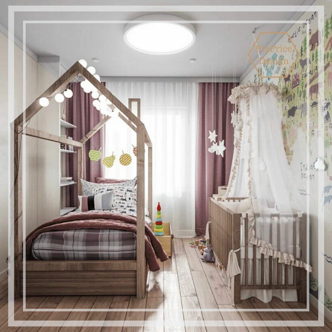 Детская 2020: идеи оформления стен, дизайнерские решения организации пространства (фото)