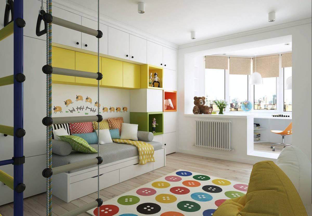 Дизайн детской с балконом – 10 красивых фото
