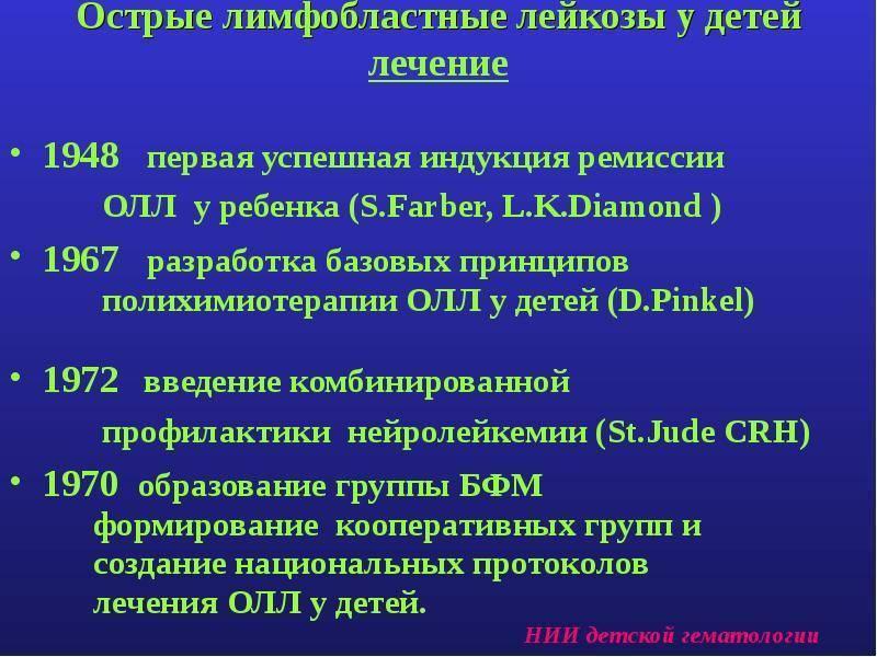 Диагностика и лечение лимфобластного лейкоза