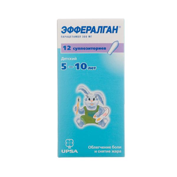 Эффералган - свечи для детей: инструкция по применению препарата (80, 150, 300 мг)