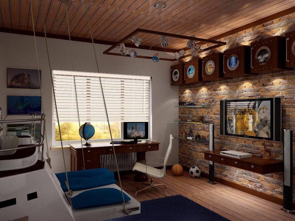 Примеры оформления дизайна подростковой комнаты для мальчика