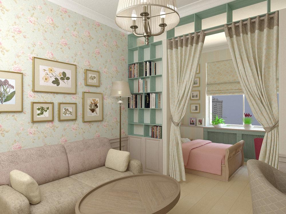 Спальня и детская в одной комнате - фото