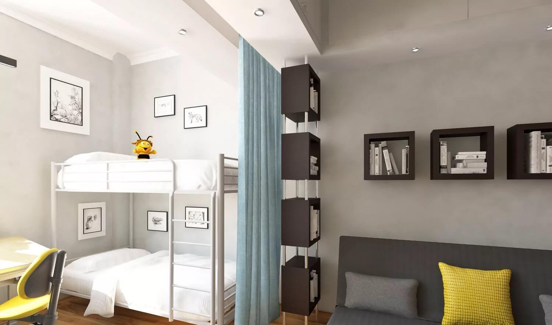 Дизайн однокомнатной квартиры для семьи с ребенком: идеи интерьера, варианты зонирования и расстановки мебели с фото