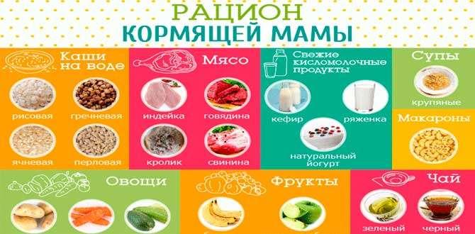 Питание кормящей матери: продукты при грудном вскармливании