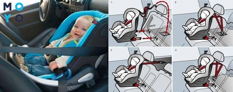 Как крепить детское автокресло в машине правильно