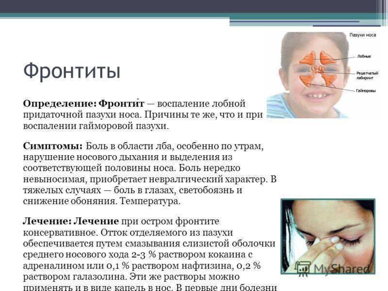 Синусит симптомы и лечение у взрослых и детей