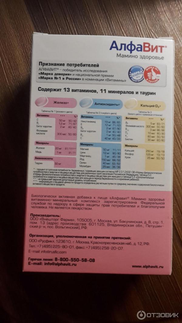 «алфавит мамино здоровье» для беременных и кормящих мам: состав, инструкция по применению