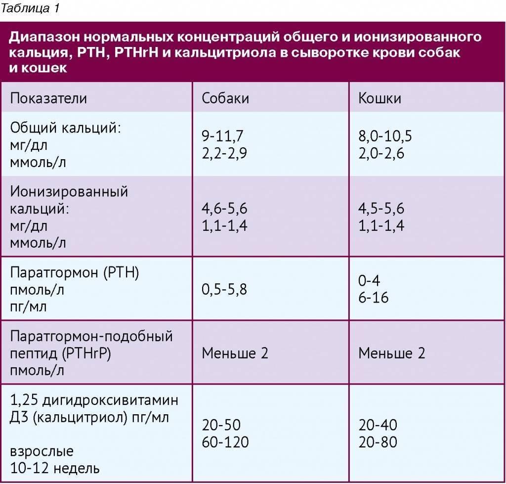 Норма показателей кальций анализа крови у ребенка