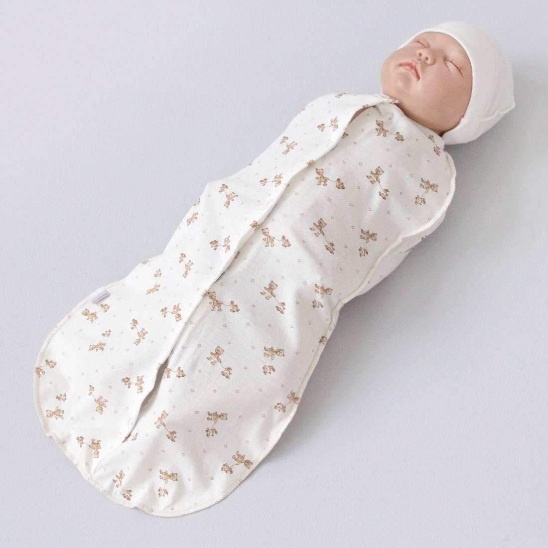 Пеленка-кокон для новорожденных на липучках и молнии: как сшить своими руками?