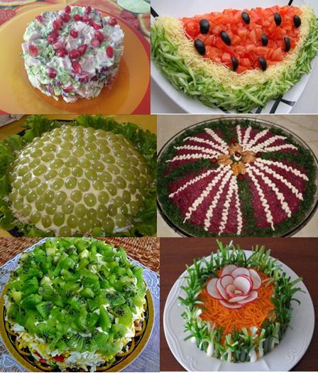 Салаты на день рождения - простые и вкусные фото-рецепты пошагово - видео уроки