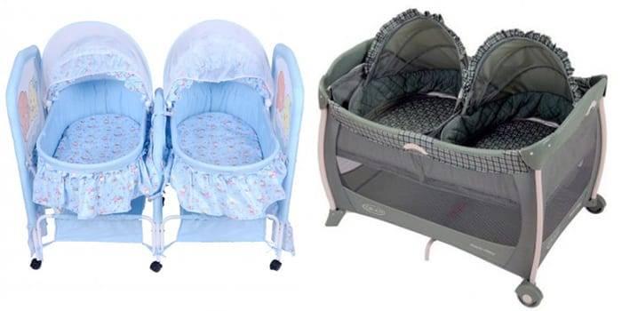 Кровать для двойни новорожденных — как организовать спальные места двойняшкам: варианты