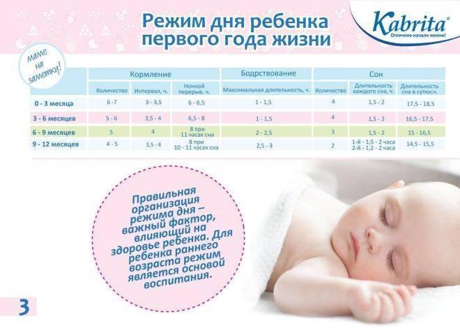 Распорядок дня годовалого ребёнка
