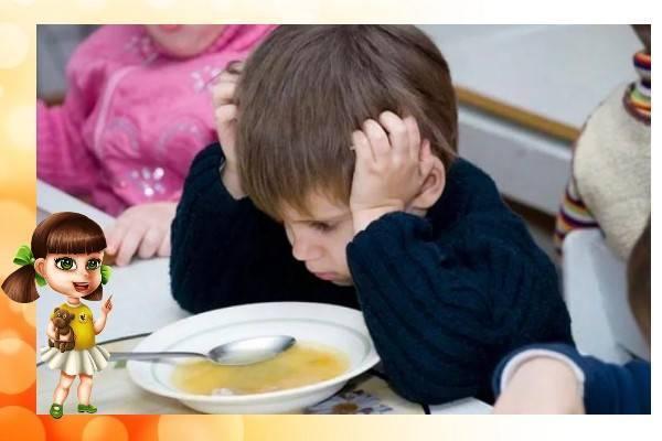 Ребенок не ест в детском саду: причины отказа от еды, помощь