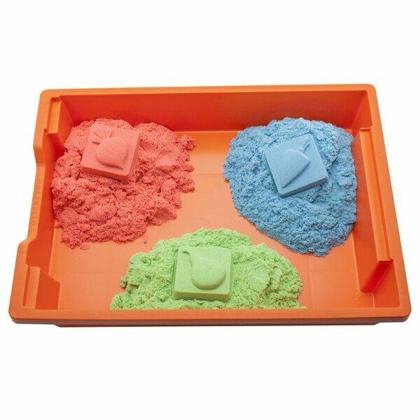 Эластичный песок. детский кинетический нерассыпающийся песок для лепки: что это такое и в чем отличия от других видов? чем полезен для взрослых kinetic sand