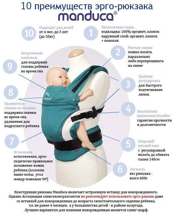 Эрго-рюкзак для новорожденных: рейтинг слинг-рюкзаков с фото и положениями